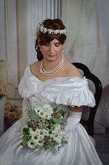 Blushing Bride (blackietv) Tags: bride bridal white wedding romantic gown dress ruffles petticoat fullskirt tgirl crossdresser crossdressing transgender