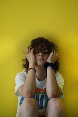 Mellow (efeardic) Tags: portrait girl woman yellow posed wall sony alpha 6000