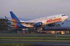 Jet2, Boeing 737-8MG, G-JZBP. (M. Leith Photography) Tags: jet2 holidays airport egpf scotland scottish sunshine aviation plane flying jet boeing 737 next gen take off grass building aircraft mark leith photography markleithphotography nikkor nikon d7200 70200vrii