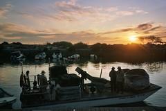 smooth sailing (michel nguie) Tags: fishing fishermen fisherman fisher sunrise aurora dawn clouds sky port water crépuscule aurore aube shadow sun sailors marin fuzeta sea analog film michelnguie