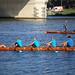 Rowers on Neckar river