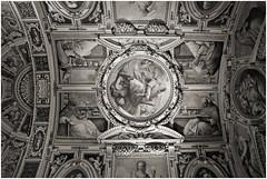 vatikan 13 (beauty of all things) Tags: italien rom roma vatikan gemälde paintings decken ceiling sw bw sakrales