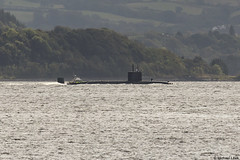 Royal Navy Trafalgar-class nuclear fleet submarine HMS Talent, S92; Firth of Clyde, Scotland (Michael Leek Photography) Tags: submarine attacksubmarine sub nuclearsubmarine nucleardeterrent warship natowarships nato navalvessel rn royalnavy britainsarmedforces britainsnavy firthofclyde clyde scotland scottishcoastline scottishlandscapes scotlandslandscapes scottishshipping strone cowal cowalpeninsula argyllandbute argyll inverclyde gourock westcoastofscotland westernscotland workingboat workboat police modpolice trafalgarclass hmnbclyde hmnb hmsneptune faslane gareloch