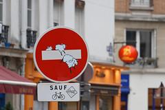 Sheeps (OliveTruxi (2 Million views Thks!)) Tags: abraham artderue arturbain clet paris streetart urbanart wallart france