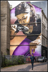267/365 She's behind you!! (B Ryder) Tags: a6300 1650mm lens glasgow strathclyde scotland street photography murals art painting