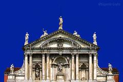 Chiesa di Santa Maria di Nazareth (Venezia) - Church of Santa Maria di Nazareth (Venice) (Eugenio GV Costa) Tags: approvato chiesa church venezia venice facciata facade statue statues statua