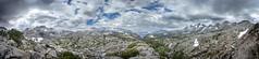 Rush Creek Basin Panorama from Marie Lakes Ridge - Sierra (Bruce Lemons) Tags: sierra sierranevada mountains backpacking hike hiking wilderness landscape california anseladamswilderness lake lakes marielakes jmt johnmuirtrail rushcreek waughlake