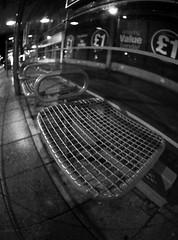 shelter (chrisinplymouth) Tags: fisheye busshelter seat night black white monochrome plymouth devon england plain uk city xg cw69x urbio cameo