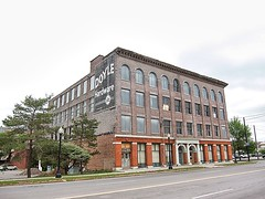 Utica New York - Doyle  Hardware Building - For Sale (Onasill ~ Bill Badzo - 67 M) Tags: doyle hardware building commercial historic onasill factory 330 main street oneidacouny nrhp 1881 clothing sparkplugs ghostsign nrhpunionstation abandon abandonment sky blue