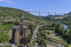 Peyre Church & Viaduct (thegrolffalo) Tags: millauviaduct bridge scene millau france nikond850 nikon2470mm peyre church