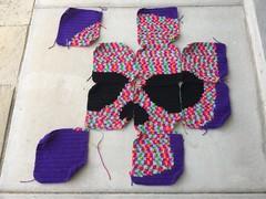 IMG_1792 (crochetbug13) Tags: crochet crocheted crocheting dayofthedead crochetyarnbomb crochetflower crochetappliqué