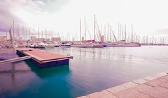 Long Exposure During Bright Day at Pier in Toulon, France. (Seymour Lu) Tags: leica gh5 lumix panasonic sail europe mediterranean france toulon colors day traveling travel vacation docked sailing ocean sea yachts ships pier tripod longexposure