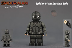 Custom LEGO Spider-Man Far From Home: Stealth Suit (Will HR) Tags: custom lego spiderman far from home stealth suit night monkey