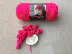 A very large crochet flower (crochetbug13) Tags: crochet crocheted crocheting dayofthedead crochetyarnbomb crochetflower crochetappliqué