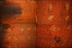00330027 (onesecbeforethedub) Tags: vilem flusser technical images onesecbeforetheend onesecbeforethedub onesecaftertheend photoshop multiple exposure collage malta edinburgh contemporaryart streamofconsciousness details rust decay industrial anthropomorphism anthropocene quadriptych poliptych polyptych rusty squares square disintegrate