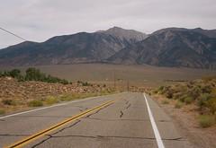 Boundary Peak 13143 ft (poavsek) Tags: alluvial fan great basin kodak ektar 6x9 film peak nevada mountain benton medalist