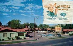 Lucky Motel, Las Vegas, Nevada (SwellMap) Tags: postcard vintage chrome old 60s 50s sixties fifties