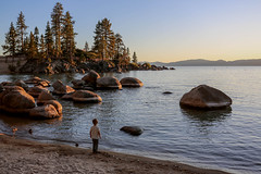 Golden Sand Harbor Cove at Lake Tahoe, Nevada (davidcmc58) Tags: goldenhours laketahoe sandharborcove cove nevada statepark lake rocks beach