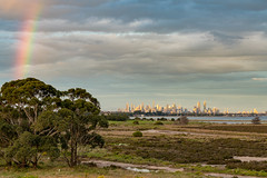 155473790707929_20190924_175355718 (nigel0577) Tags: altona 100 steps melbourne australia victoria sunset after before storm rain city skyline clouds dramatic sony alpha a99ii ilca99m2 70400mm wetlends rainbow