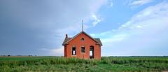 Redbrick School (joeqc) Tags: kansas ks ottawa county abandoned school fuji xe3 xf1024f4r xf1024mmf4rois clouds storm