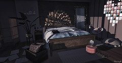 @ChezMoi (Sweet Fashion Girl and Boy) Tags: decoration set chezmoi mandala bed mirror candle rug pouf plant photo frame floorplan heart chair haikei slow relaxed gacha stool folded blankets dustbunny season giving hand knit blanket navy table unkidness journey side wood paper scattered sheet music pillow crate consignment screen better than skybox rare