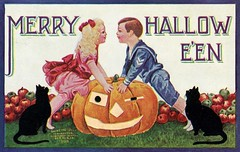Merry Halloween (Alan Mays) Tags: cards ephemera postcards greetings greetingcards girls orange halloween boys paper children clothing holidays pumpkins sailors clothes printed jackolanterns sailorsuits october31 old vintage typography faces antique illustrations type 1912 1910s borders typefaces winking winks internationalartpublco intartpubco internationalartpublishingco postcardpublishers 1908 1900s cats fruits animals dresses apples blackcats blue red green fonts