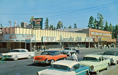 State Line At Lake Tahoe, Harrah's Club (SwellMap) Tags: postcard vintage chrome old 60s 50s sixties fifties
