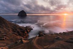 Another Pacific City Sunset (sbadger91) Tags: sunset ocean haystack oregoncoast pacificnorthwest pacificcity nature landscape stephenbadger sbadger91 sbadgerphoto nikond850 nikon1635mmf4vr