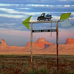 Kayenta, Arizona, USA (pom'.) Tags: sign panasonicdmctz101 arizona kayenta usa aghaalaniroad 5000