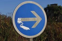 Clet_4875 Esquibien (meuh1246) Tags: streetart bretagne finistère cletabraham clet panneau esquibien bateau