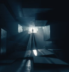 ''Into The Light'' (HodgeDogs) Tags: photography people light shadow silhouette games gaming pc nvidia fransbouma larahjohnson remedyentertainment explore remedy control textures