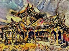 One of the buildings of the palace complex of Bogd-Gegan in Ulan Bator. Mongolia (V_Dagaev) Tags: bogdgegan ulanbator mongolia capital building palace art architecture digital dynamicautopainter painterly painting painter paintingsfromphotos paint visualdelights