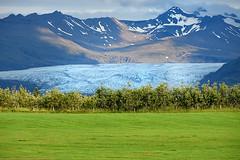 PANORAMA TRICOLORE (ADRIANO ART FOR PASSION) Tags: islanda islande iceland panorama landscape prato montagne ghiacciaio nikon nikond7200 18300 200mm tricolore