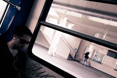 . (Riccardo Romano) Tags: atene grecia athens oblique obliqua treno train linee lines window finestra finiestrino people person persona gente persone street shot streetshot