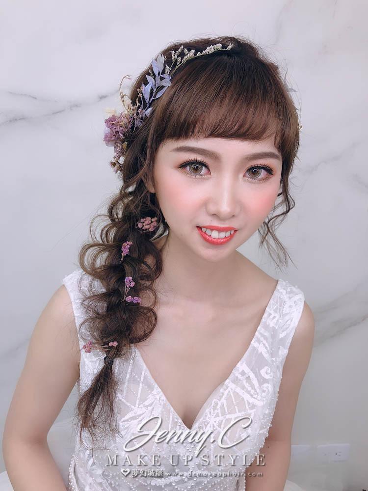 【新秘蓁妮】新娘造型創作 / 短髮-編髮造型