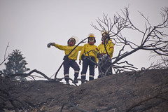 Fire fighters at Buffalo Bay, two days after the Knysna fires 2017 (Esther Blaauwwiekel) Tags: knysna visitknysna gardenroute southafrica zuidafrika tuinroute knysnafires