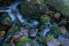 TIME (Krystian38) Tags: water long exposure pentax poland polska k50 green river rocks landscape outside outdoor mountains moss stones