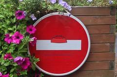 Clet_3649 Pont Croix (meuh1246) Tags: streetart bretagne finistère cletabraham clet panneau pontcroix béret