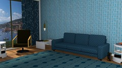 TT_02 blue (MidCenturyStyles) Tags: surfacepattern belleepoque2 interiordesign curtains carpet wallpaper fabric textile