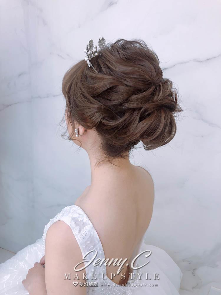 【新秘蓁妮】新娘造型創作 / 短髮-盤髮造型