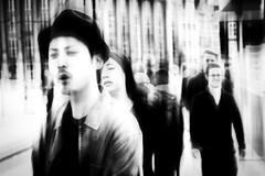 rush hour (Gerrit-Jan Visser) Tags: streetphotography amsterdam bnw blackandwhite rush hour anxiety stress pressure crowds edited people city life high key soft focus zombie living dead armageddon