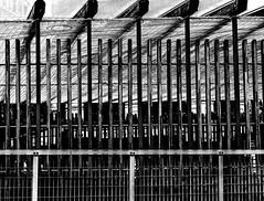 DarkFence.jpg (Klaus Ressmann) Tags: klaus ressmann omd em1 abstract fparis france spring blackandwhite cityscape design fence flcabsoth klausressmann omdem1