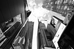 a testa in su (mat56.) Tags: paesaggi landscapes landscape paesaggio panorama città city newyork manhattan usa architettura architecture grattacieli skyscrapers bianco black nero white cielo sky antonio romei mat56 urban urbano prospettiva perspective explore