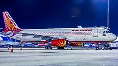 Air India Airbus A320 VT-ESJ Bangalore (BLR/VOBL) (Aiel) Tags: airindia airbus a320 vtesj doublebogey bangalore bengaluru canon60d night ramp