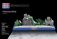The Princess Bride skyline (Box) (BenBuildsLego) Tags: princess bride movie nostalgia lego legos benbuildslego instructions book cool design unique buttercup cliffs open 3d render