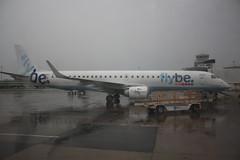 Flybe G-FBEI Embraer ERJ-195LR flight BE3131 departure from Manchester MAN England UK bound for Paris CDG Franceat MAN (japes10) Tags: flybe gfbei embraer erj195lr flight be3131 departure from manchester man england uk bound for paris cdg franceat