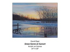 "Snow Scene at Sunset • <a style=""font-size:0.8em;"" href=""http://www.flickr.com/photos/124378531@N04/48793349056/"" target=""_blank"">View on Flickr</a>"