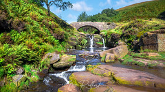 Three Shires Head (Aron Radford Photography) Tags: yellow three 3 shires head peak district brandside waterfall water river stream landscape uk countryside stone arch bridge pack horse