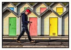 In a hurry (Andy J Newman) Tags: color motion blur cigarette colorefex colour d810 dorset longexposure man nikon phone smokomg speed swanage walk england unitedkingdom