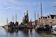Sunny morning in Hoorn (Jan Kranendonk) Tags: hoorn holland dutch netherlands harbor port travel water ships boats houses historical masts tower medieval sight landmark sky sunny buildings city town europe